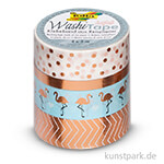 Washi-Tape Hotfoil - ROSEGOLD, 4er Set