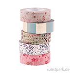 Washi Tape Set - Bouquet Sauvage, 5 Stück