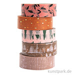 Washi Tape Set - Nature Matters Struktur, 5 Stück