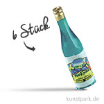 Weinflaschen, 3,5 cm, 6 Stück