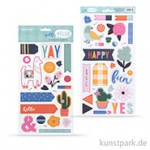Well Hello Collection - Chipboard Elements, 45 Stanzteile