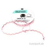 Wellen Band - Bestickt, Rosa & Glitzer, 2 m