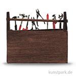 Werkzeugkasten mit Werkzeug, 5x4 cm, 9-teilig