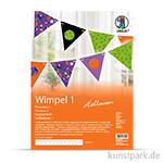 Wimpel-Kette Halloween - Dreieck, Länge 2,30 m