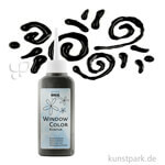 Window Color Glas Design - Konturenfarbe 80 ml | Schwarz
