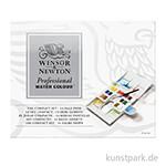 Winsor & Newton Aquarell Compact Set mit 14 halben Näpfen und Zubehör