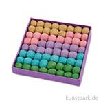 Baumwollperlen Sortiment - Pastell, Durchmesser 20 mm, 64 Stück