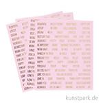 Wort- und Sprüche-Sticker - Pink, Größe 10x11,5 cm, 4 Blätter