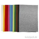 XXL Set - Bastelfilz aus 100% Polyester, 42 x 60 cm, 3 mm, 12 Stück sortiert