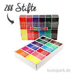 XXL Set - Colortime Fasermaler Basisfarben - 288 Stifte in der Displaybox