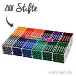 XXL Set - Colortime Fasermaler Zusatzfarben - 288 Stifte in der Displaybox