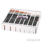 XXL Set - Gold Line runde Synthetikpinsel, 84 Stück in der in Displaybox