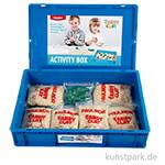 XXL Set - Sandy Clay, 6 kg Spielsand mit 10 Förmchen in Kunststoffbox