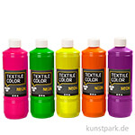 XXL Set - Textile Color Neonfarben, 5 x 500 ml