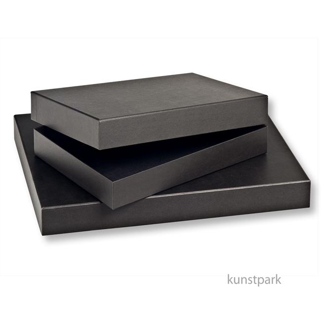 aufbewahrungsbox schwarz gl nzende pappe. Black Bedroom Furniture Sets. Home Design Ideas