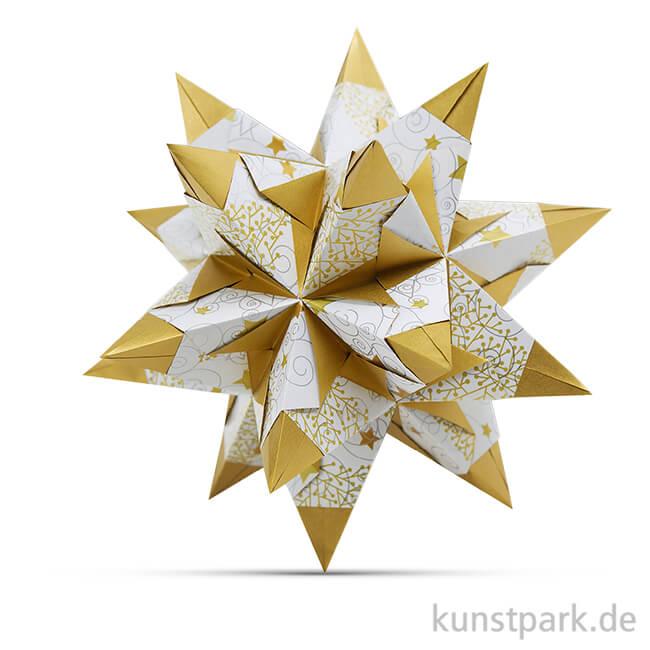 Bascetta Stern Bastel Set Sterne 80g 15x15 Cm Weiß Gold