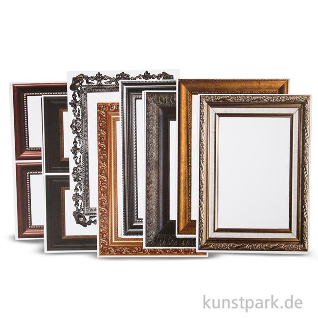 Bilderrahmen Aus Karton Metallicfarben 16 Blatt