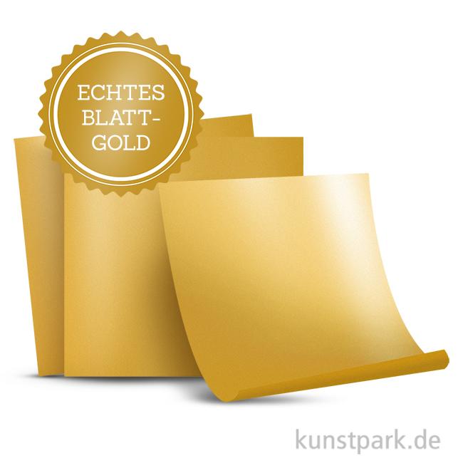 Blattgold 24 Karat 80x80 25 Blatt Im Heftchen