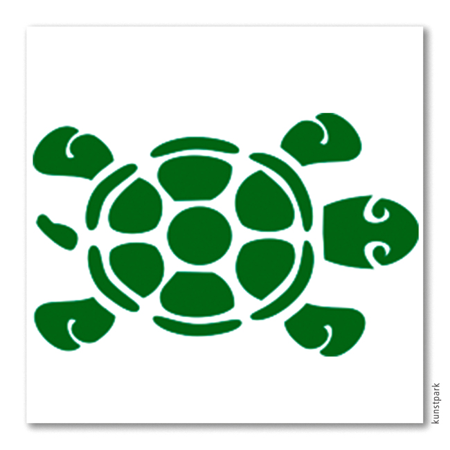 bodypaintingschablone  schildkröte