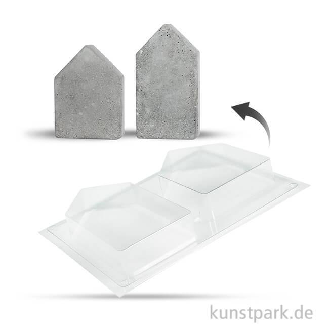 Gießform Häuser 2er Set, 13,5-16,5 cm, Tiefe 3 cm
