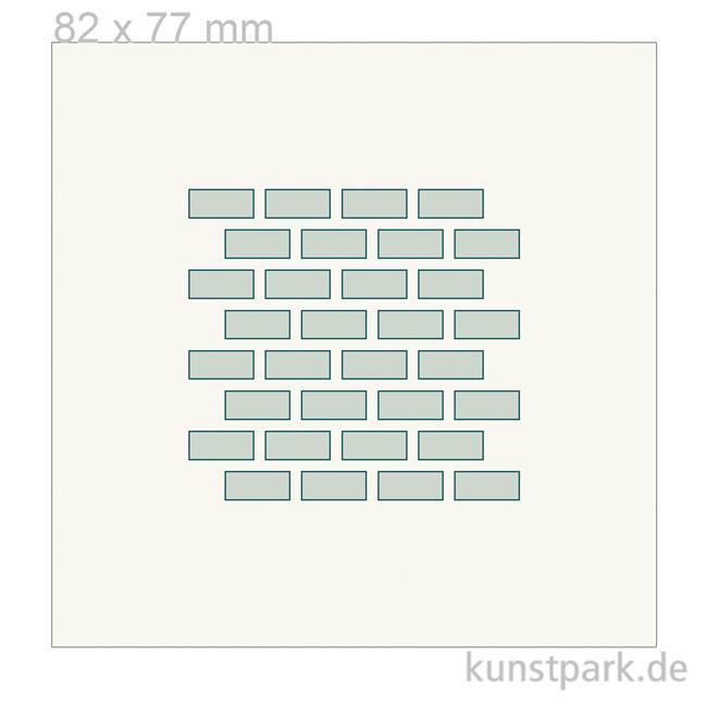 Gut bekannt Grafische Schablone - Ziegel, Größe 82x77 mm NL85