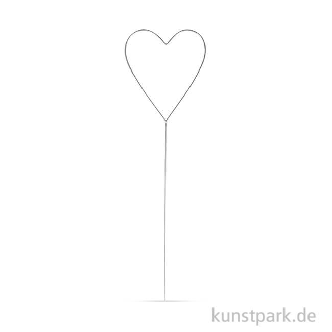 Herz aus Draht zum Stecken, 30x8,5 cm
