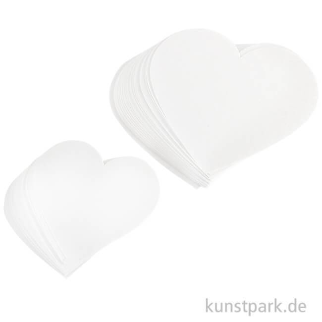 Herzen Aus Papier Zwei Größen 6 8 Cm Ausgestanzt 50 Stück