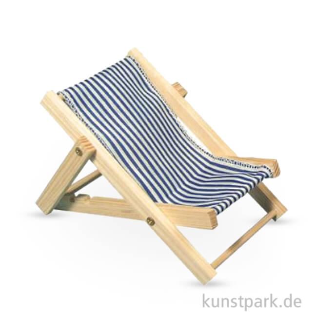 Sonnenliege holz  Holz-Sonnenliege Blaugestreift, 14 cm, 1 Stück