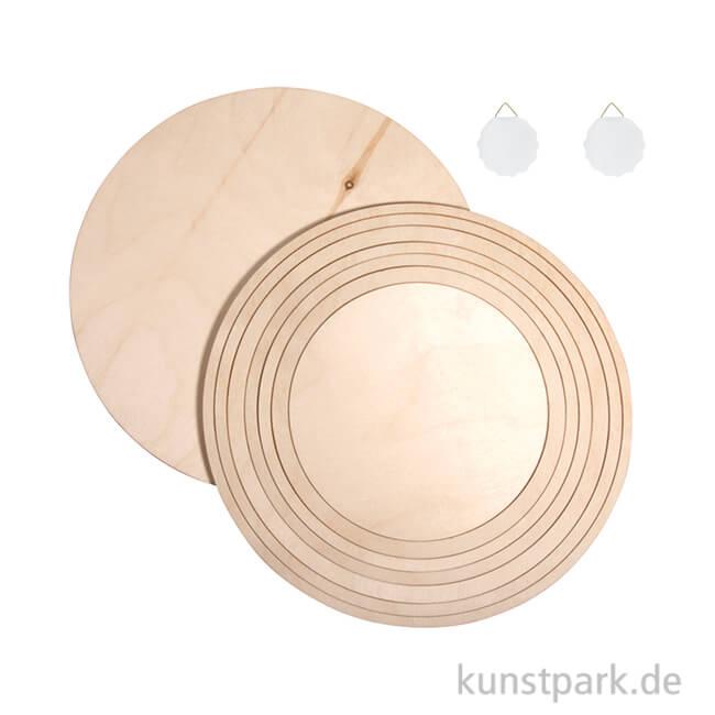 Holzkreise Holzringe 8 Teiliges Set