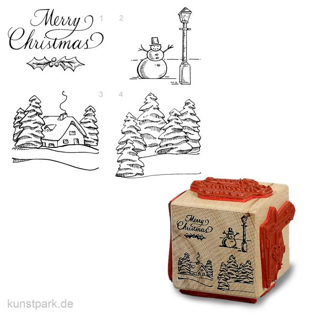 Knöpfe Weihnachtsmotive.Judi Kins Stamps 4 Weihnachtsmotive Würfel
