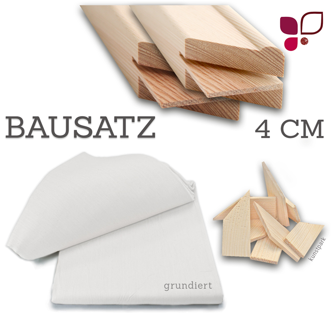 keilrahmen xxl bausatz wall 4 cm. Black Bedroom Furniture Sets. Home Design Ideas