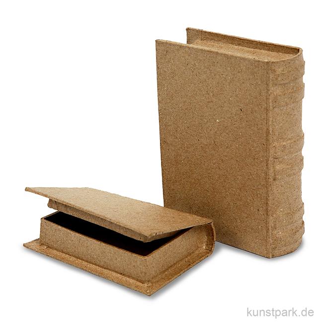 pappschachtel buch handgearbeitet 2 st ck sortiert. Black Bedroom Furniture Sets. Home Design Ideas