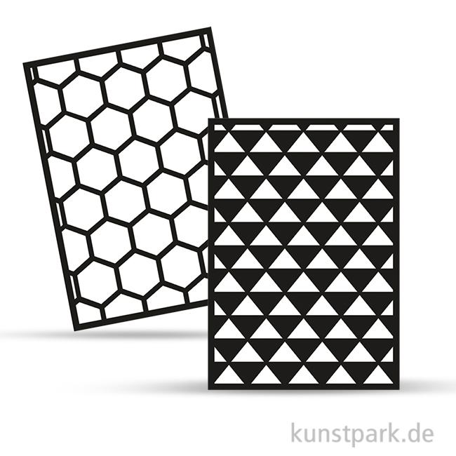 Rayher Schablonen Set 2 Din A5 Selbstklebend 2 Designs
