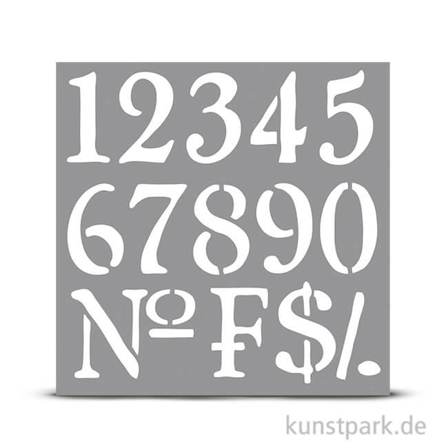 Schablone 30,5x30,5 cm - Nummern