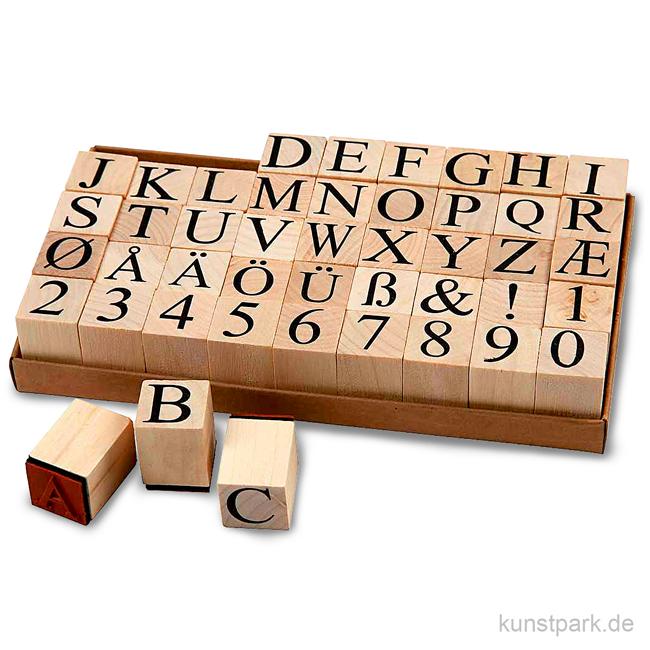 schaumstoff stempel alphabet holz 2 6 cm 45 st ck sortiert. Black Bedroom Furniture Sets. Home Design Ideas