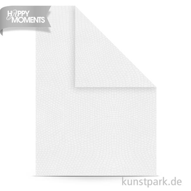 Strukturpapier Din A4 100 G 20 Blatt Weiß