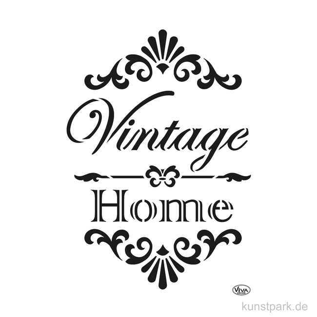Viva Decor Chalky Schablone Din A4 Vintage Home