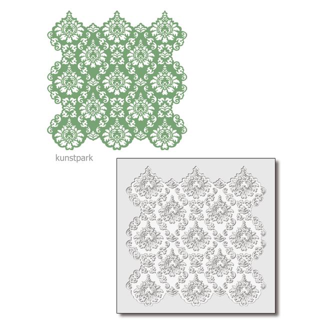 Viva Decor Hintergrund-Schablone 29x29 cm - Ornament
