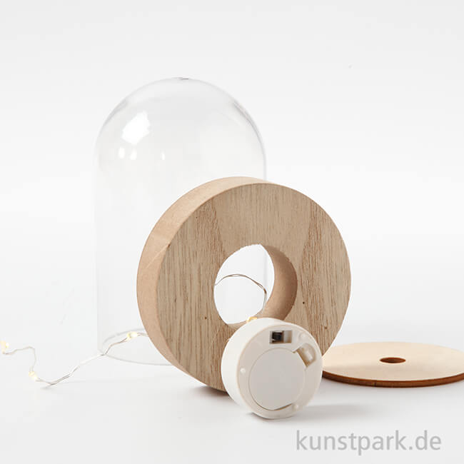 Led Lichterkette Mit Standfuss Fur Glasglocken Lange 27 Cm