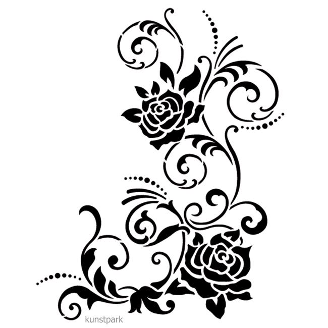 Viva Decor Universal Schablone 20x25 Cm Filigrane Blüten