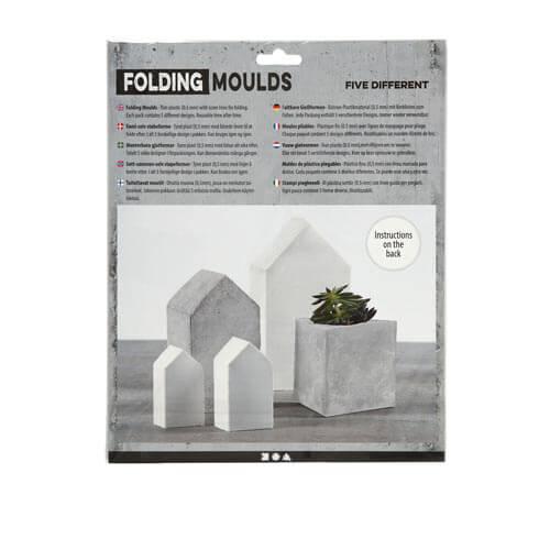 Form-Matten Häuser und Dreiecke, 6-14,5 cm, 5 Stück