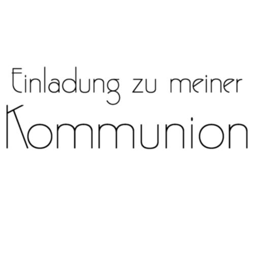 stempel - einladung zu meiner kommunion ii - 3x8 cm, Einladungskarten