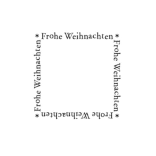 Frohe Weihnachten Rahmen.Stempel Frohe Weihnachten Rahmen 7x7 Cm