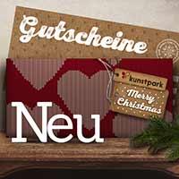 Neue Kunstpark Gutscheine im weihnachtlichen Design