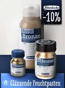 Neues Sortiment der Bronze-Farben von Schmincke