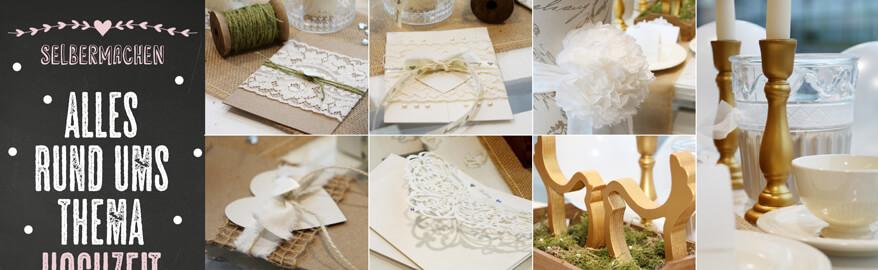 Hochzeitsdeko selber machen kunstpark for Dekomaterial hochzeit